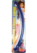 Double Trouble Slender Bender Dildo 17in - Blue
