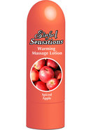 Sinful Sensations Warming Massage Lotion Spiced Apple 6.75...